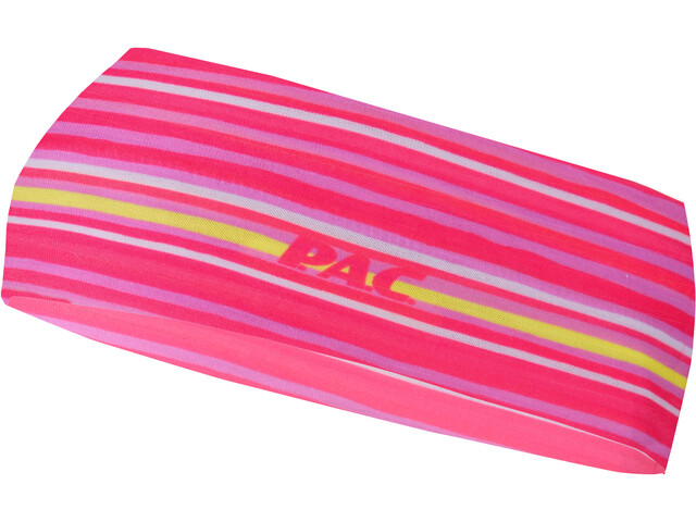 P.A.C. Banda para la Cabeza Niños, slim stripes pink